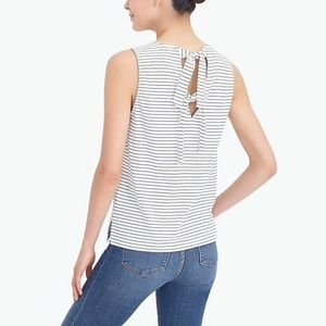 J. Crew Tied Back Striped Tank Top